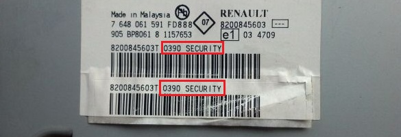 renault symbol 2007 года код штатной магнитолы