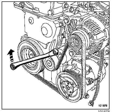 Подпираем двигатель, подставив