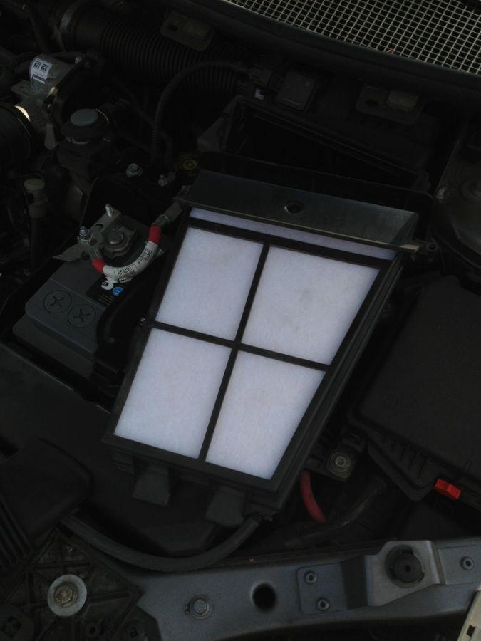 замена воздушного фильтра рено меган