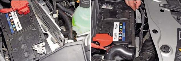 Замена ламп в передних фарах Renault Duster
