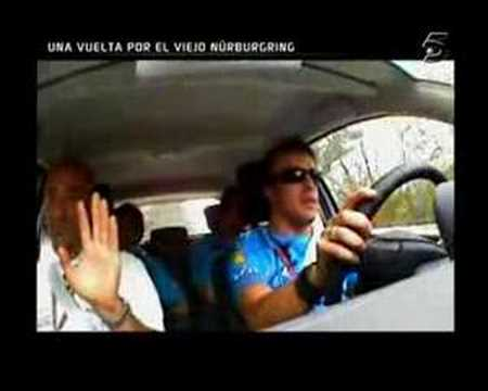 Renault Megane in  nurburgring with ALonso